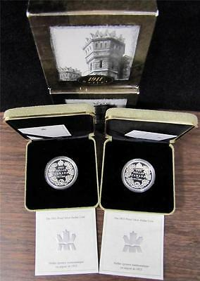 2001, Canada, Proof Silver $1--(2) Coin Set.