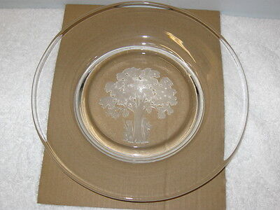 """ORREFORS """"SONS OF LIBERTY""""  SCULPTURED CRYSTAL PLATE"""