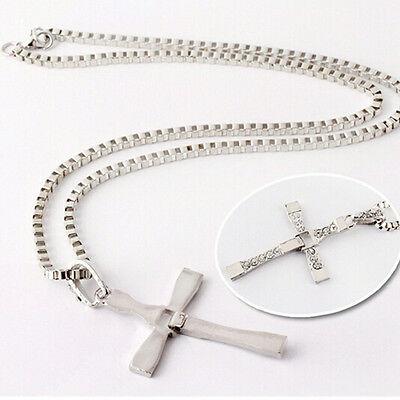 Cool Gift Unisex's Men Silver Stainless Steel Cross Pendant Necklace Chain