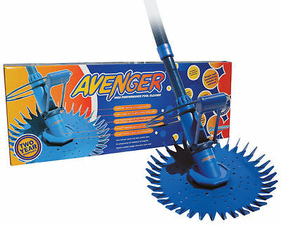Avenger Automatic Pool Suction Cleaner -12m Hose - 2 Year Warranty -Aus Made