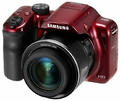 "Samsung Wb1100f 16.2 Megapixel Compact Camera - Red - 3"" Lcd - 35x Optical Zoom"