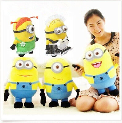 Despicable Me Plush Minion Soft Toy Stuffed Cuddly Teddy Doll Gift 9'' 12'' 20''