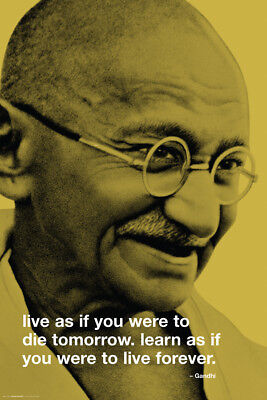 Gandhi Quote Laminated Poster 61X91Cm Inspirational Motivational New Licensed