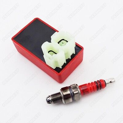 4+2 Pin AC CDI 3 Electrode Spark Plug For GY6 50cc 125cc 150cc Moped Scooter ATV