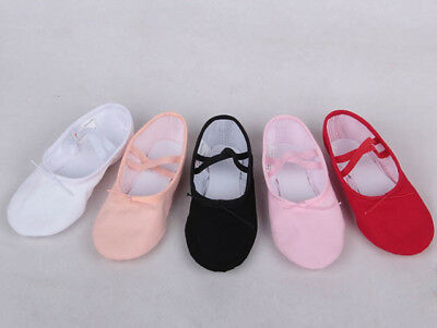 Girls & Ladies Canvas Split Sole Ballet Dance Shoes Fitness Shoes: Size 23 - 40
