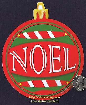 LMH MAGNET Holiday  NOEL Merry Christmas ORNAMENT Shape Car Refrigerator 5""