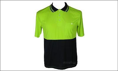 Mens Hi Vis Polo Shirt Work Wear Lime Polo Top Safety Workwear