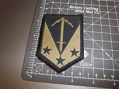 US Army patch, Sword w Mountains & 3 stars, with velcro back