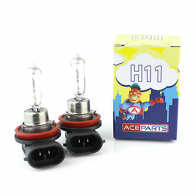 H11 55w Clear Standard Halogen Xenon HID Front Fog Lamp Light Bulbs