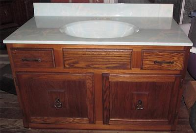 Vintage Light Teal Swirl Bathroom Cabinet Sink Triangle Pacific