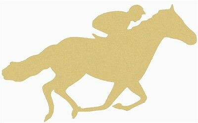 Jockey Horse Unfinished Wood Cut Out USA Made Racing Derby