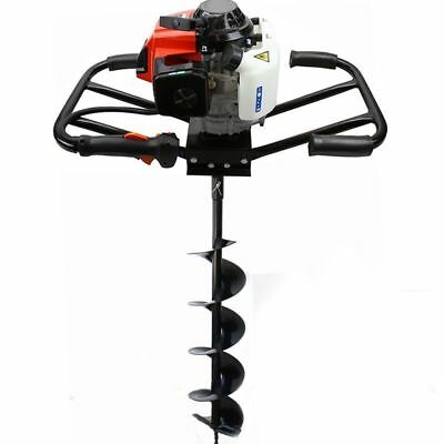 """EPA 3HP Two 2 Man 63cc Gas Post Earth Planting Hole Auger Digger Machine 6"""" Bit"""