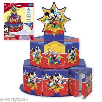MICKEY MOUSE CLUBHOUSE FAVOR BOXES TABLE DECORATION ~ Birthday Party Supplies