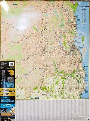 (LAMINATED) MAP SOUTH EAST QLD & NORTHERN NSW AUSTRALIA POSTER (69x92cm) CHART