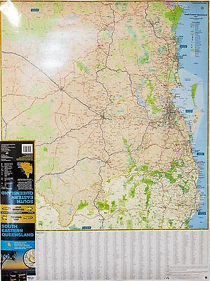 Laminated Road Map Of Nth Nsw & Se Qld State Australia New