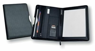 1 x New A4 Zippered Compendium Portfolio Koskin Leather Look Aust wide delivery