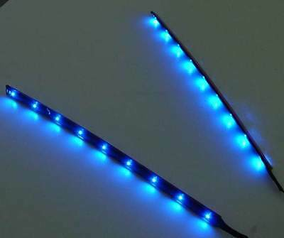 2x15 fois CLAIR DE LUNE LED Moulure, bleu LED, 2 bandes TOTAL 60cm, set complet