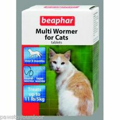 Beaphar Cat Wormer MultiWormer Cat Worming Tablets Roundworms Tapeworm