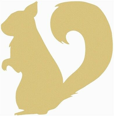 Squirrel Unfinished MDF Wood Shape Cutout Variety of Sizes USA Made Nature Theme