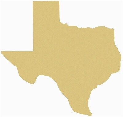 Texas Unfinished Wood Shape Cut Out Variety Size USA Made United States