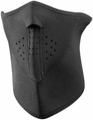 Zan Headgear Neoprene 3 Panel Half Face Mask Black