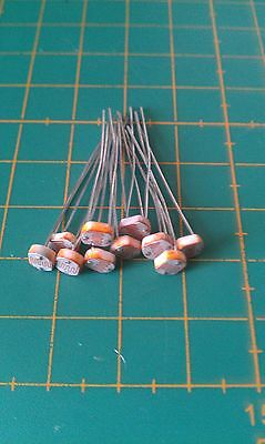 Light Dependent Resistor - LDR Photoresistor - L5A20 -10 Pack - UK - Free P&P