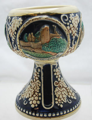 """4.5"""" VINTAGE POTTERY WINE GOBLET CUP DRACHENFELS MADE IN GERMANY"""