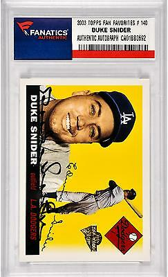 Duke Snider Los Angeles Dodgers Autographed 2003 Topps All Time Fan Favorites