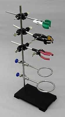 9 Piece Lab Set - 6x4 Stand, 2 Support Rings, 3 Extension Clamps & 3 Holders