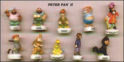 PETER PAN TINKERBELL French Set 10 PORCELAIN Figures RARE Official DISNEY Cute !