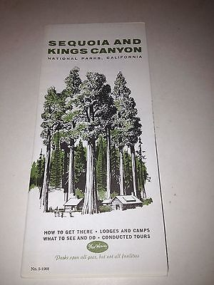 1960s Sequoia and Kings Canyon National Parks California travel brochure