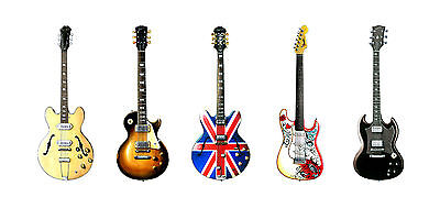 Five Famous Rock Guitars Greeting Card, DL size