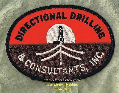 LMH PATCH Badge  DIRECTIONAL DRILLING & CONSULTANTS Inc.  Oil Gas Well Digging
