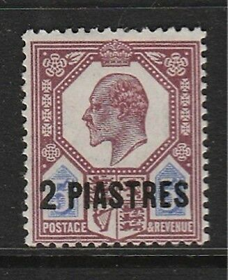 GB OFFICES IN TURKEY 1905 MINT H SC #14 SG #14a CHALKY