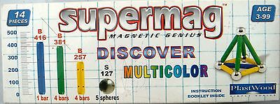 Supermag 0070 Discover Multicolor  * Magnetic Genius  - Plast Wood