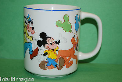 Walt Disney Parade; Mickey, Minnie, Donald, Pluto, 10oz.  Mug / Cup, Japan