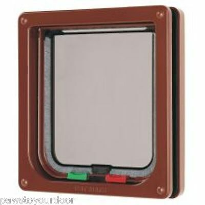 Petmate Cat mate locking 4 way cat flap pet door 309B brown