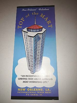 1960s Top of the Mart New Orleans Louisiana Brochure foldout Canal Street