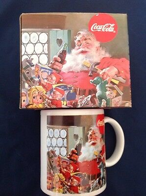 Coca Cola Santa Mug Christmas Decoration Coke Bottle Coffee Cup 1997 Toy Elves