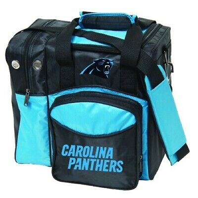 KR NFL Carolina Panthers 1 Ball Bowling Bag