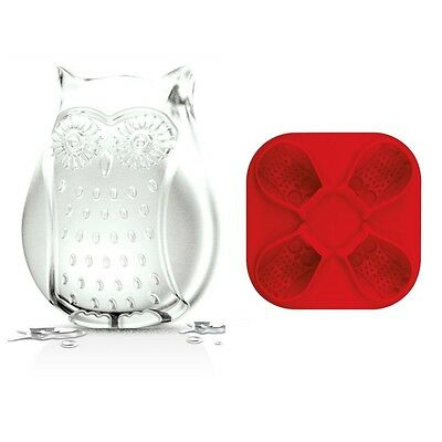 Tovolo Owl Ice Cube Mold Bake Pan Silicone Jello Shots 4-In-1 Whimsical 81-7956