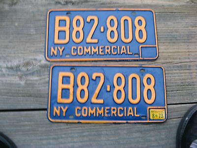 1966 66 -1973 73 New York Ny License Plate Pair Set Commercial Truck Trk