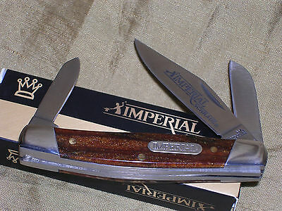 IMPERIAL SCHRADE GOLD AMBER STOCKMAN HUNTING POCKET KNIFE !!!