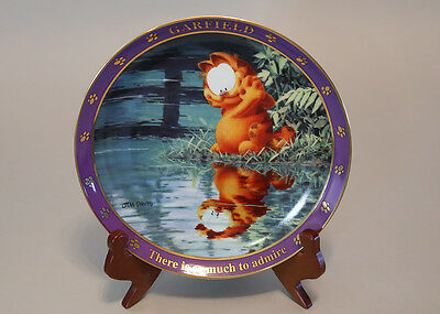 Danbury Mint Garfield Plate THERE IS SO MUCH TO ADMIRE