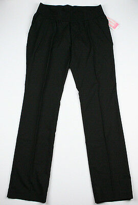 New Womens Maternity Pants Black Straight Leg Liz Lange NWT Sz Size S L XL