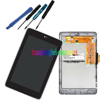 Black Touch Screen+LCD+Frame Assembly for Google Nexus 7 1st Asus ME370T ME370TG
