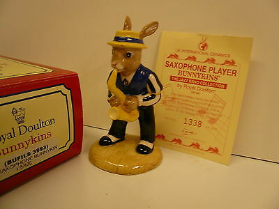 DB 186 Saxophone Player Bunnykins; Limited Edition of 2500