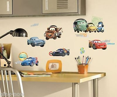 Disney Cars 2 Wall Decal Sticker Removable Peel & Stick Decor Set of 26 Decals