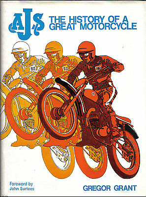 AJS History of a Great Motorcycle TT & Manx GP + Riders  foreword by Surtees