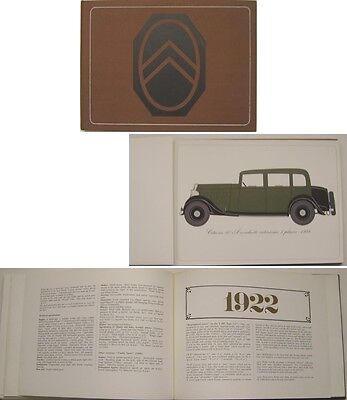 Citroen 1919-1939 from Type A to Traction Large Format Publicity Book Pub. 1968